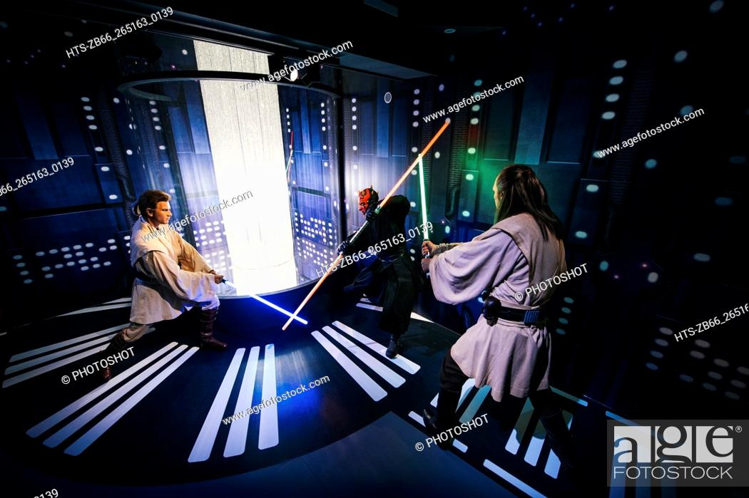 Stock Photo: Library images of the Star Wars Attraction at Madame Tussauds' London.