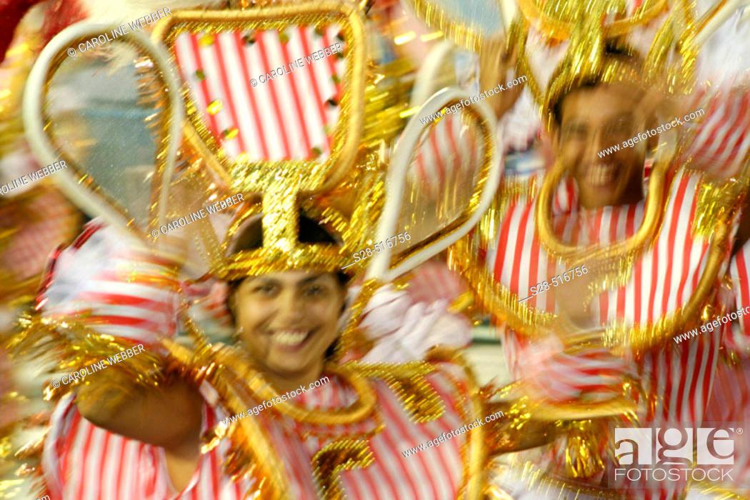 Stock Photo: Dancers at Carnival, Rio de Janeiro.