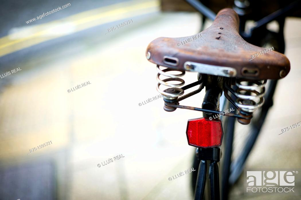 Stock Photo: Old bicycle.