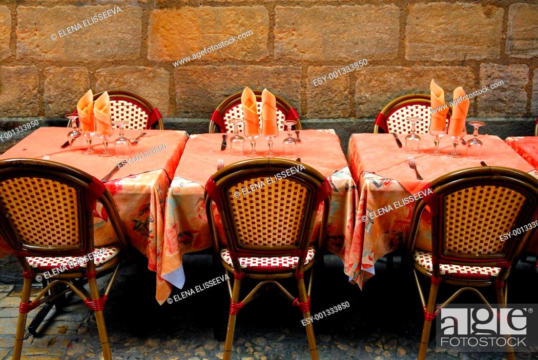 Stock Photo: Restaurant patio.
