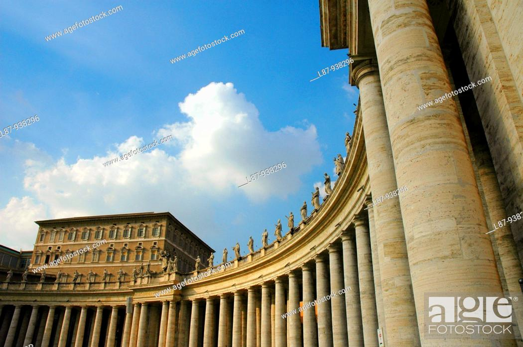 Stock Photo: St  Peter's Square  Vatican City  Rome  Italy.