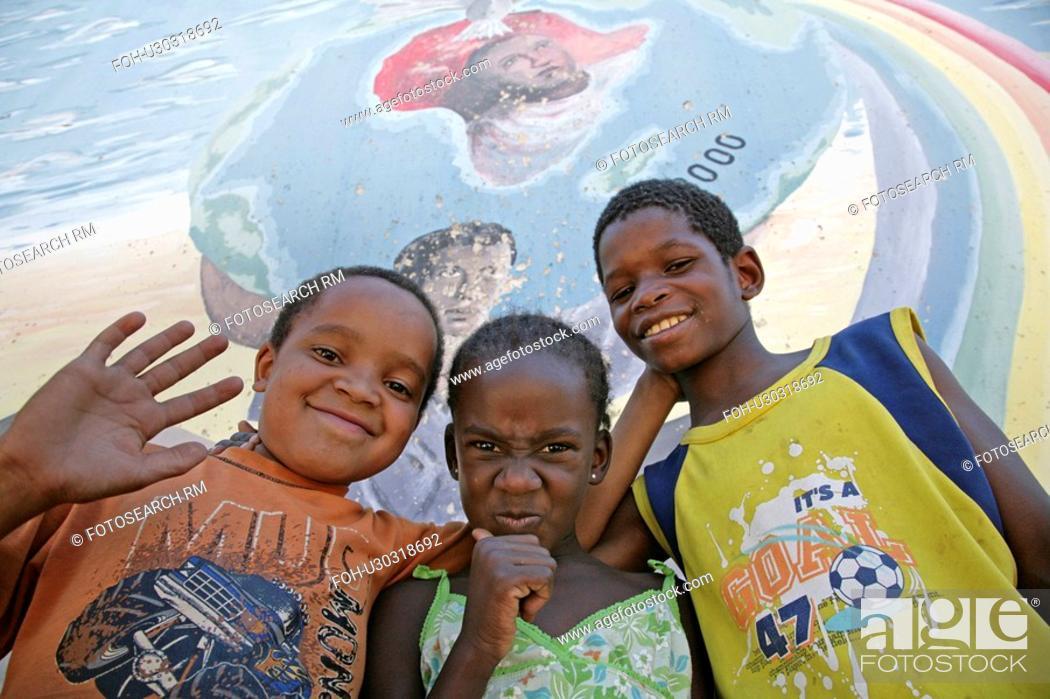 Stock Photo: bernard, child, namibia, kid, person, people.