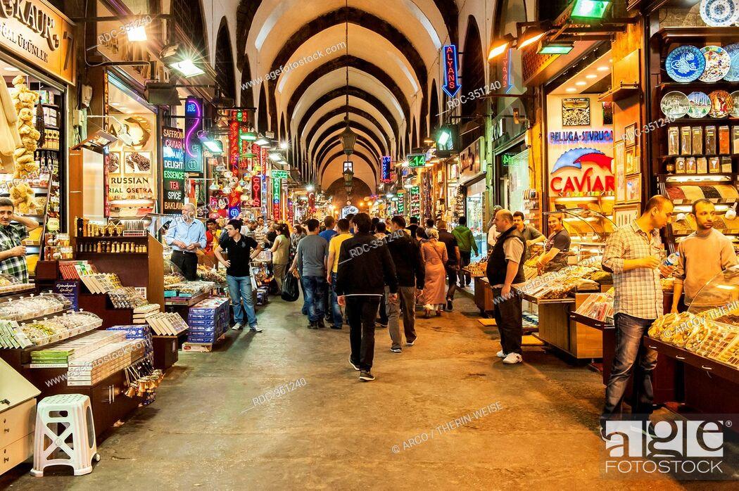 Stock Photo: Grand bazaar, covered alleys, Istanbul, Turkey.