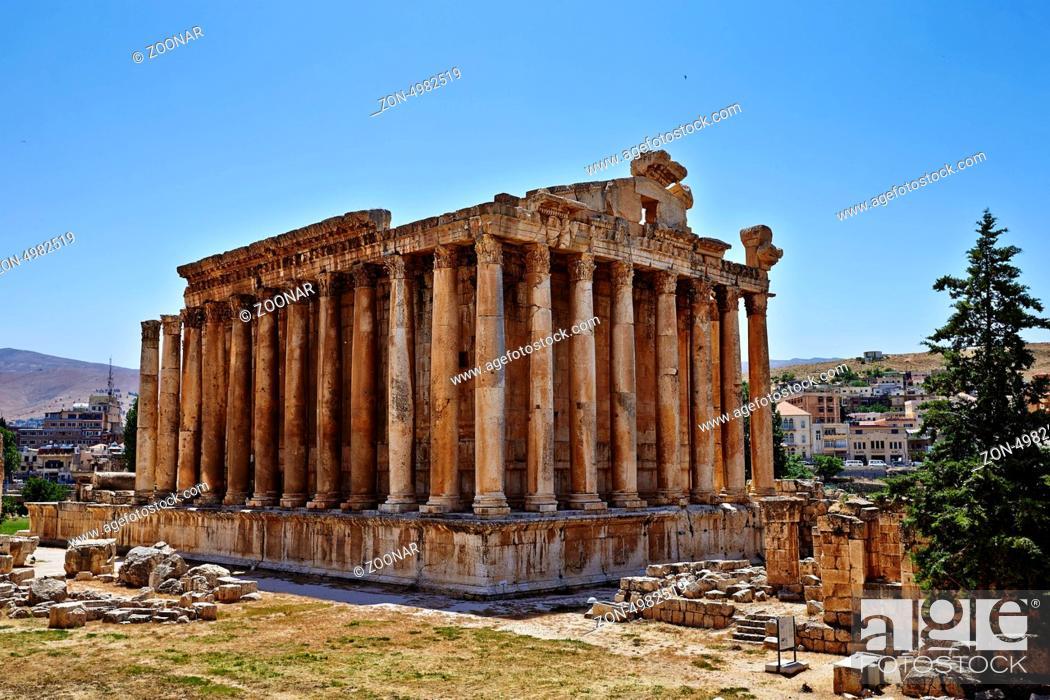 Stock Photo: Temple of Bacchus - Baalbek, Lebanon.