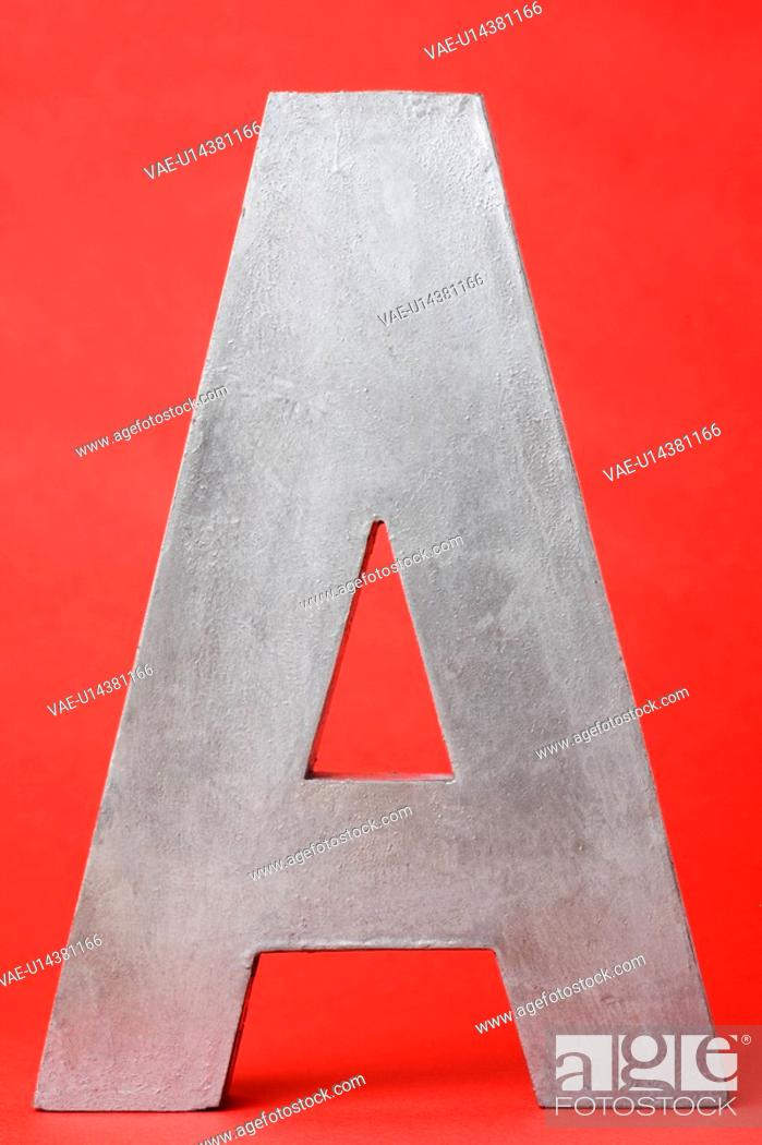 Stock Photo: Letter A on red background.
