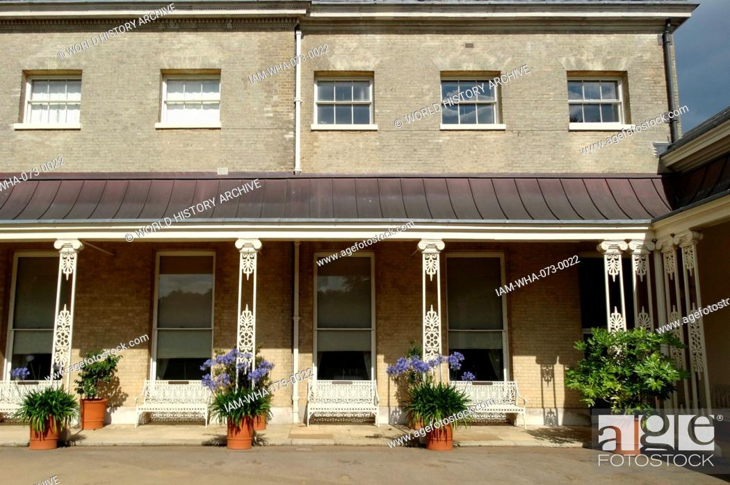 Stock Photo: Exterior of Kenwood House. The original house dates from the early 17th Century and was then called Caen Wood House. Originally designed by Humphry Repton.