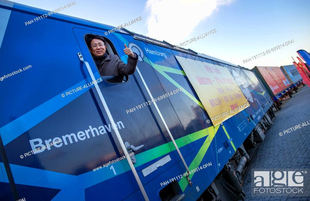 Stock Photo: 12 November 2019, Mecklenburg-Western Pomerania, Sassnitz: Dong Wanxu, CEO of Beijing Trans Eurasia International Logistics.