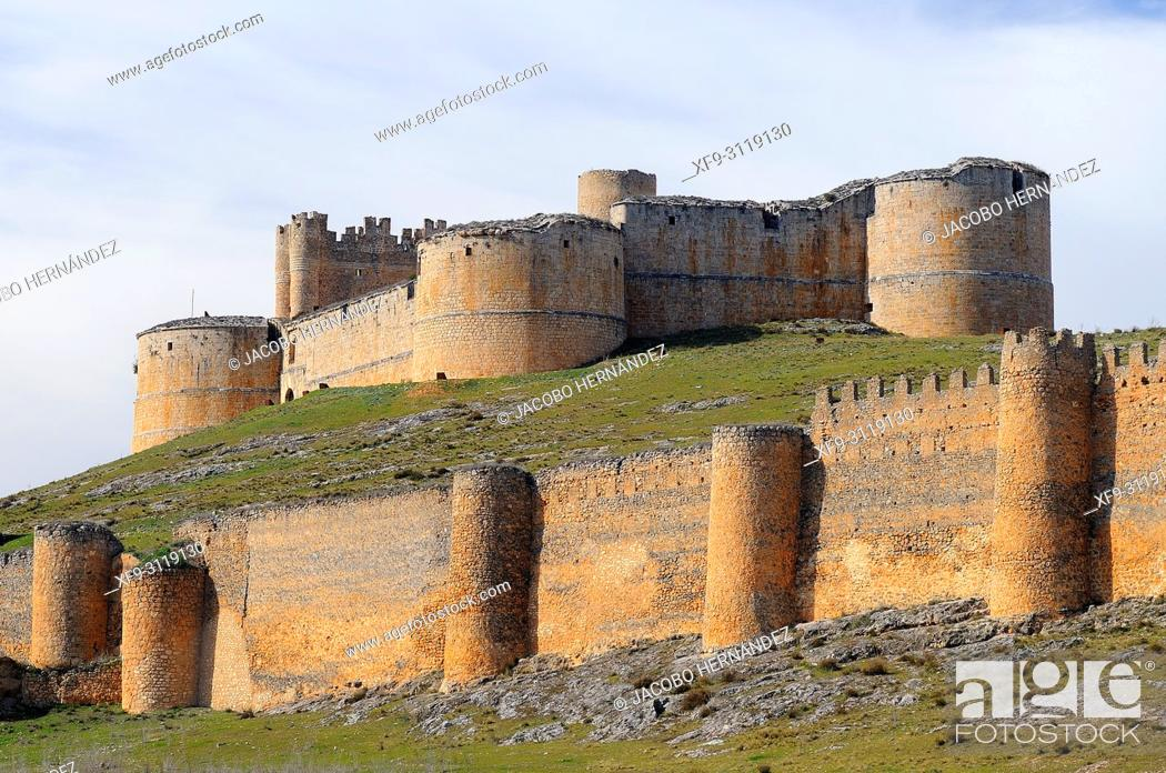 Stock Photo: Castle of Berlanga de Duero. Soria province. Castilla y Leon. Spain.