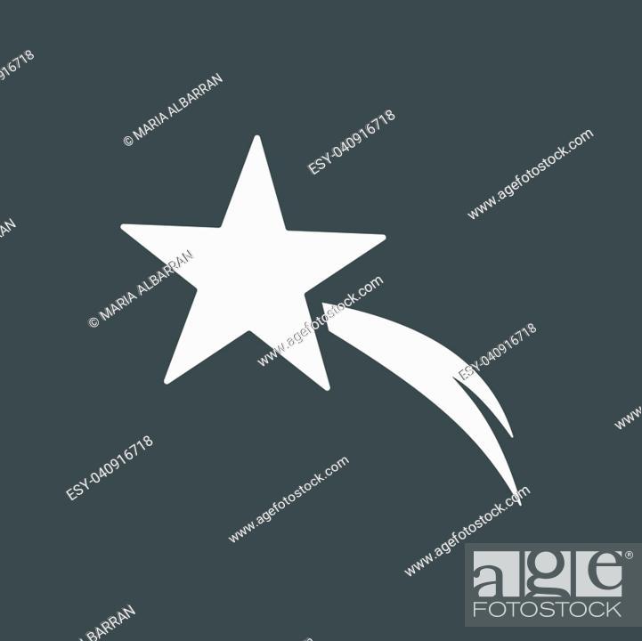 Stock Vector: Christmas star icon on black background. Vector illustration.