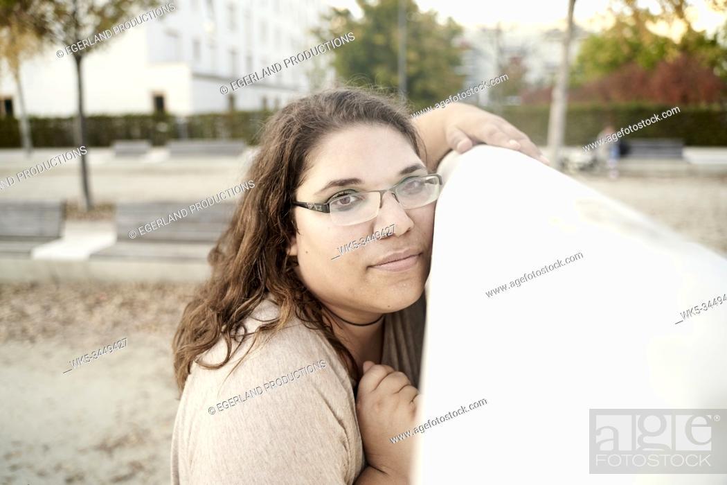 Stock Photo: thoughtful woman.