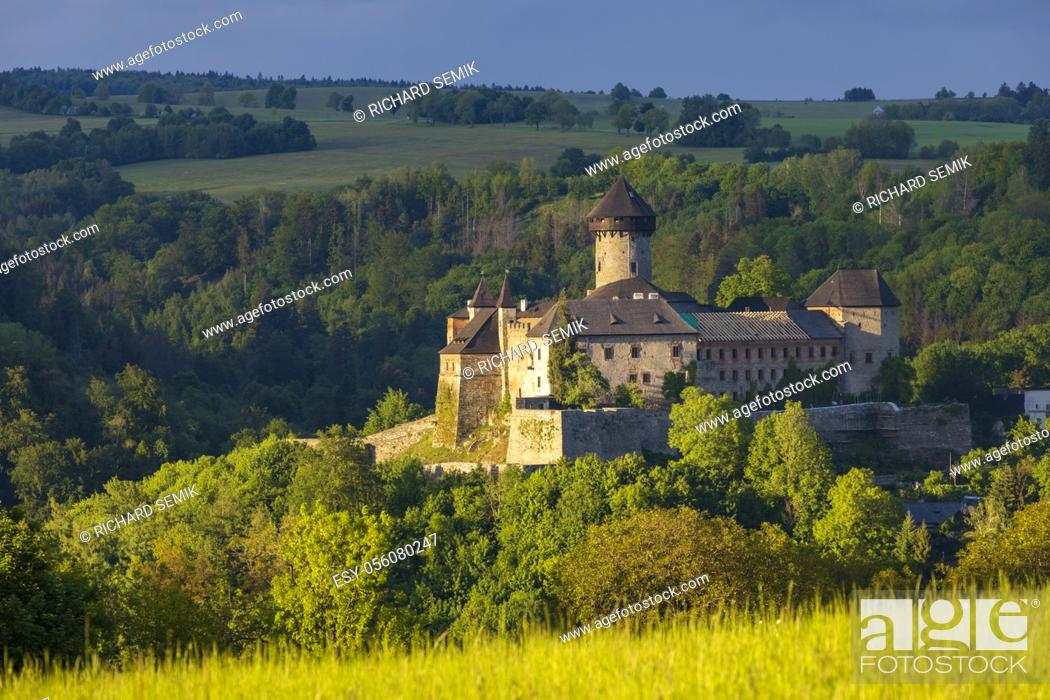 Stock Photo: Sovinec castle in Nizky Jesenik, Northern Moravia, Czech republic.