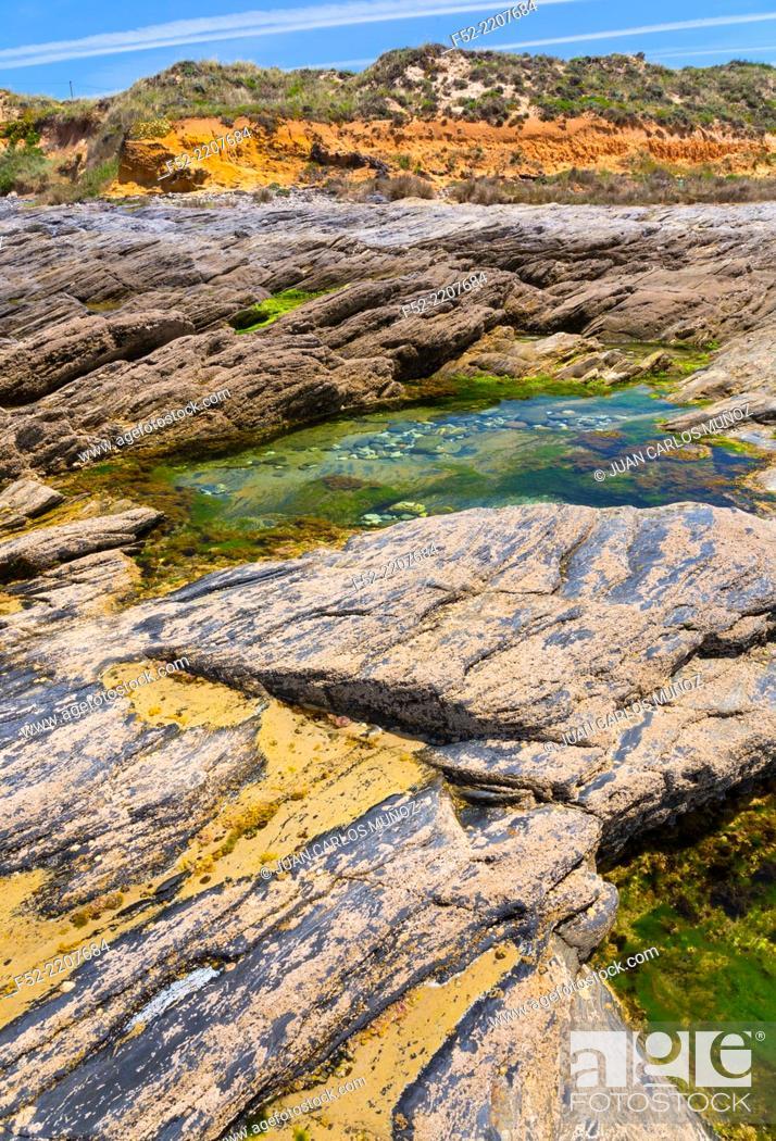 Stock Photo: Sao Torpes, Natural Park of Southwest Alentejo and Costa Vicentina, Alentejo, Portugal, Europe.