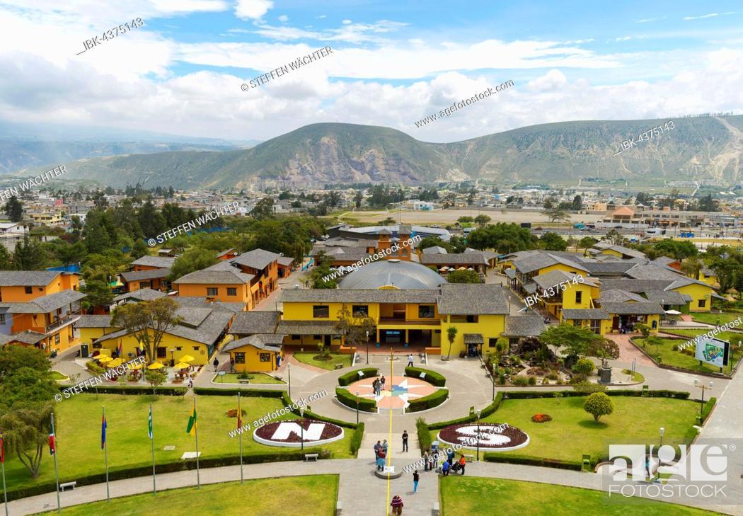 Stock Photo: Equator monument, Mitad del Mundo, Quito, Pichincha Province, Ecuador.