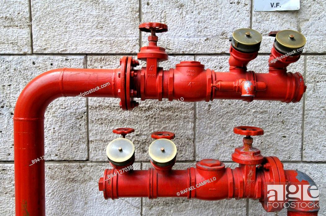 Stock Photo: Water supply. Roma Termini, railway station. Rome, Italy.