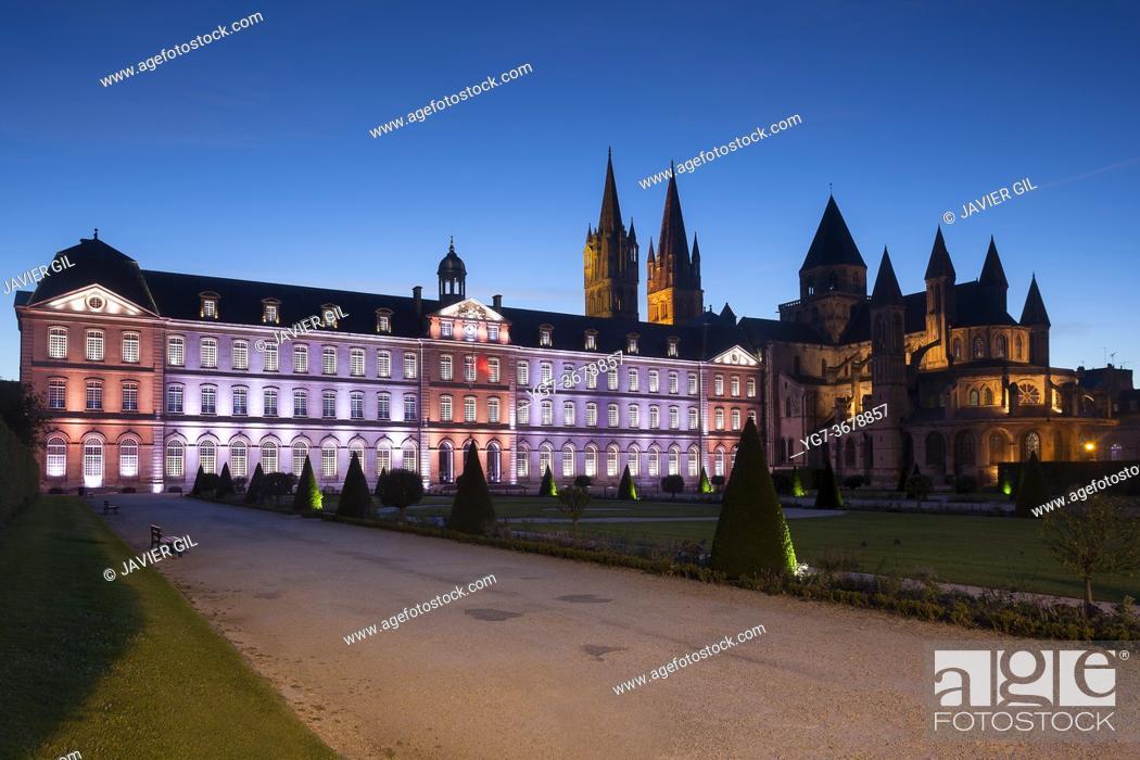 Stock Photo: Men's abbey, Caen, Normandy, France.