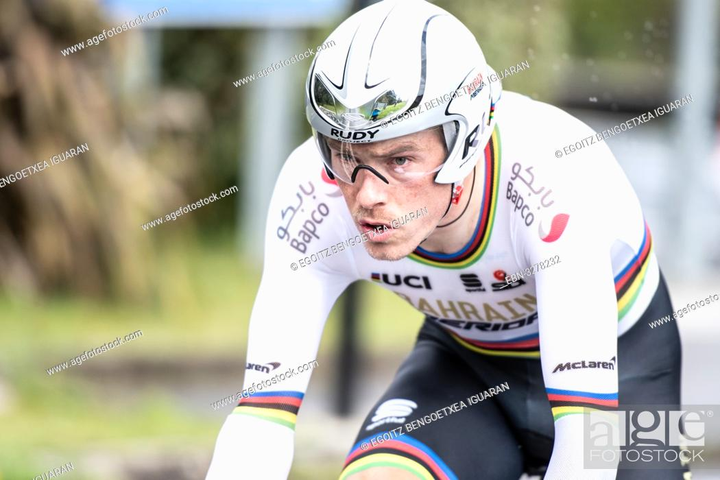 Imagen: Rohan Dennis at Zumarraga, at the first stage of Itzulia, Basque Country Tour. Cycling Time Trial race.