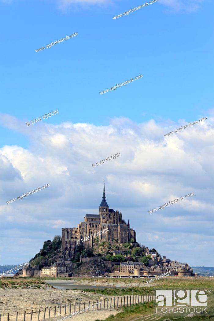 Stock Photo: Mont Saint-Michel, Manche department, Lower Normandy, France.