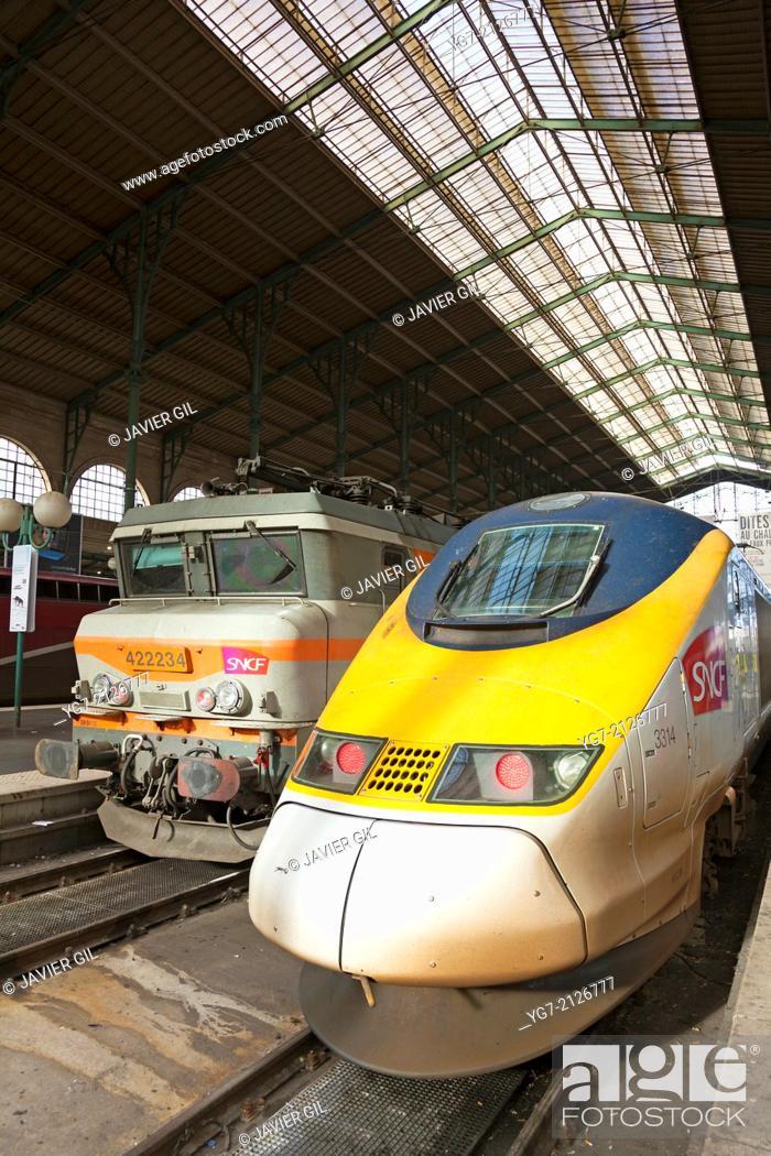 Stock Photo: Gare du Nord, Paris, Ile-de-france, France.