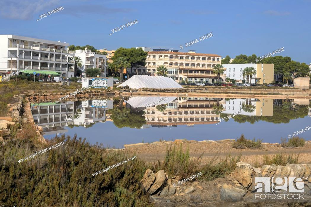 Stock Photo: Colonia de Sant Jordi, Salinas de S'Avall, Mallorca, Balearic Islands, Spain, Europe.