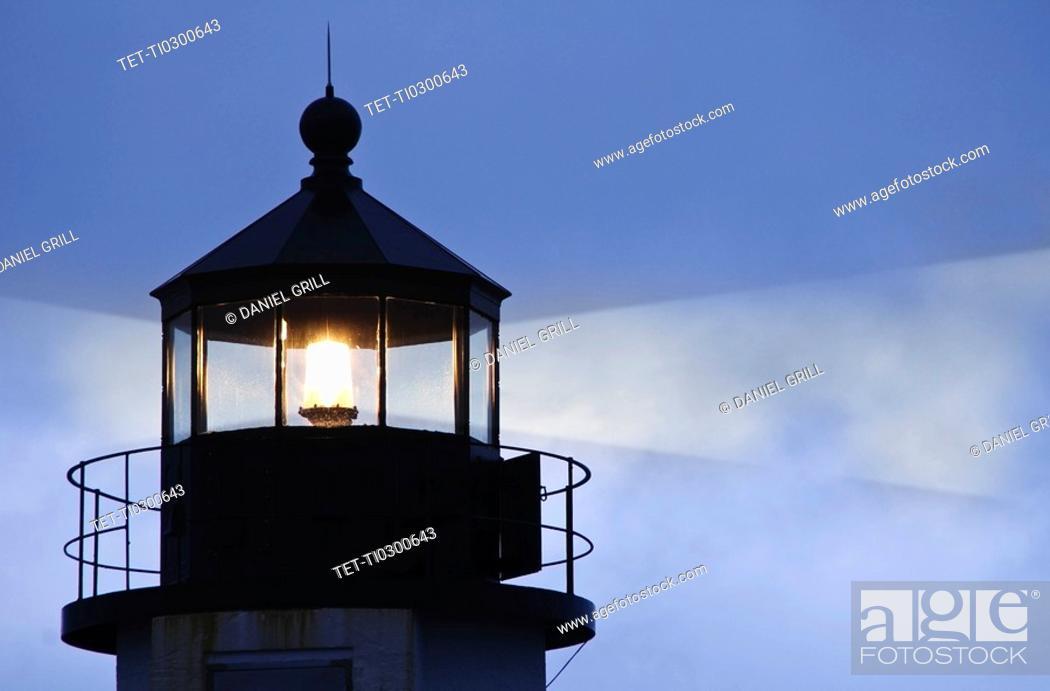 Stock Photo: Lighthouse beacon.