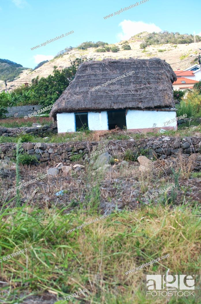 Stock Photo: Old traditional house in Machico city, Madeira, Portugal.