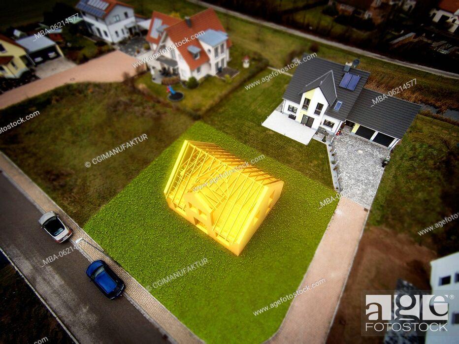 Imagen: Germany, Bavaria, CGI, 3D, homestead, Building, drone, [M].