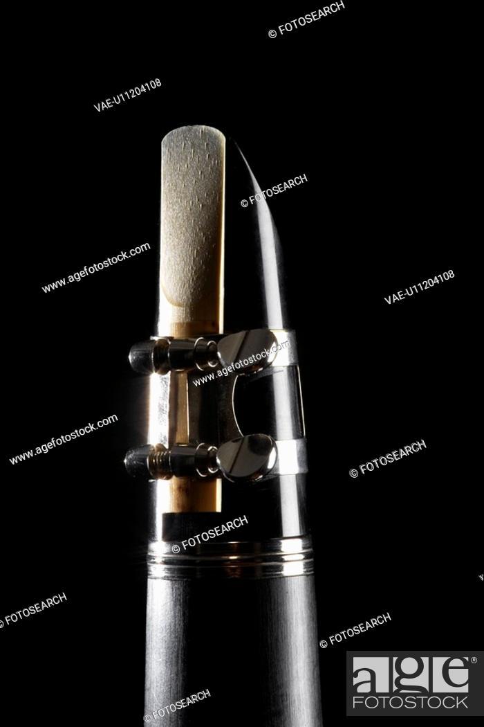 Stock Photo: Close-up of clarinet.