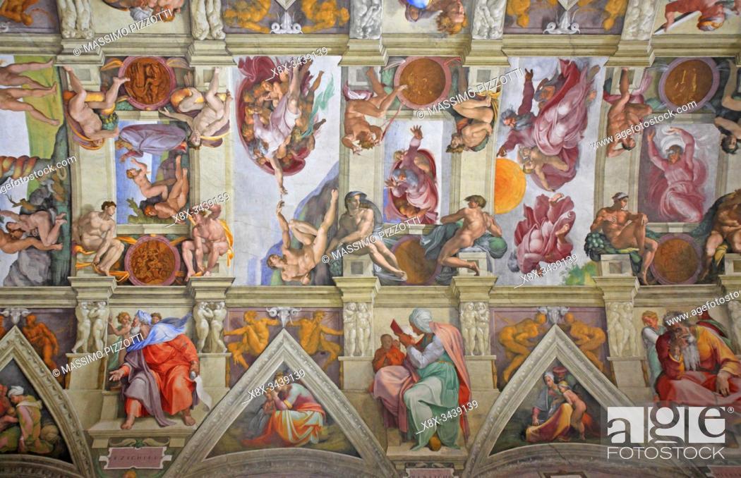 Imagen: The Sistine chapel by Michelangelo, Vatican, Rome, Italy.