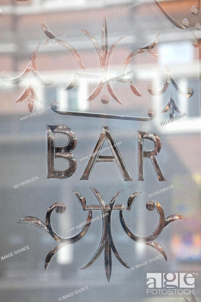 Stock Photo: Bar window, London.