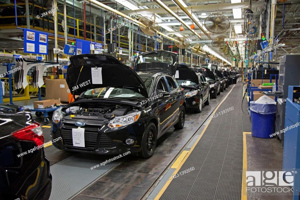 Stock Photo Wayne Michigan The 2017 Ford Focus At Motor Co S Embly Plant