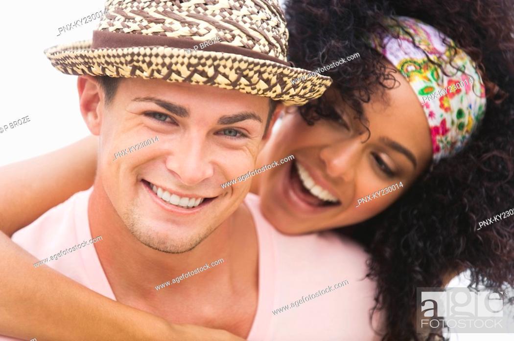 Stock Photo: Close-up of a couple romancing.