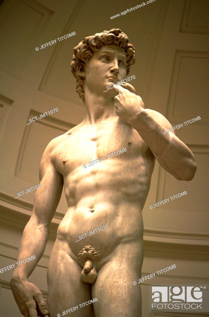 Stock Photo: Statue of Michelangelo's David, Florence, Italy.