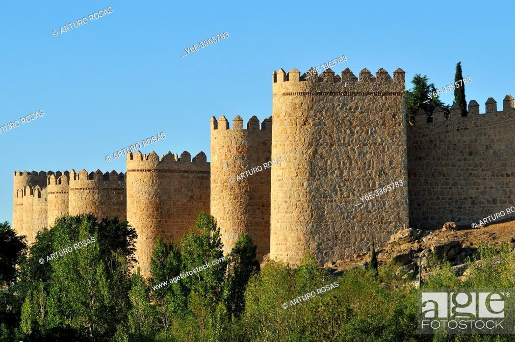 Stock Photo: The Walls of Ávila, Spain.