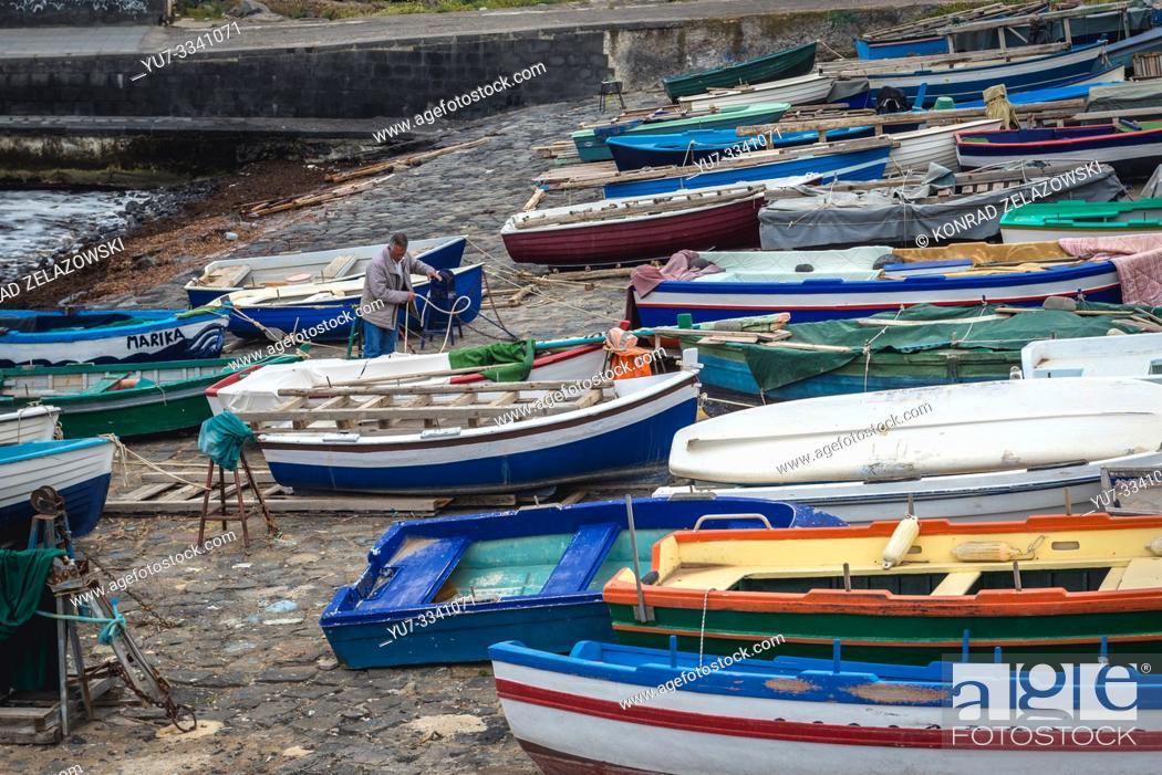 Stock Photo: Aci Castello comune in the Metropolitan City of Catania on Sicily Island in Italy.