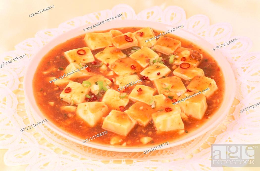Stock Photo: Plate Of Sauce With Tofu.
