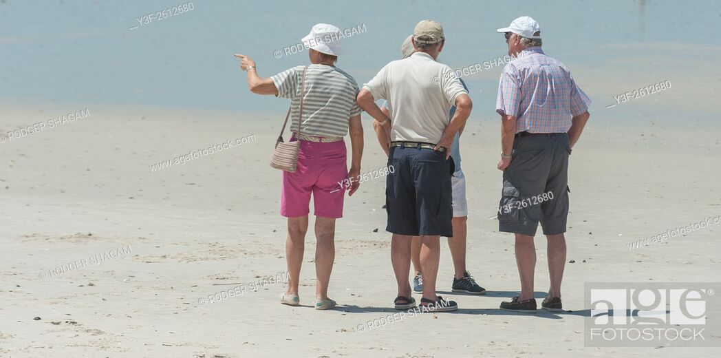 Stock Photo: I think it's that way . . . on Muizenberg Beach, Cape Town, South Africa.