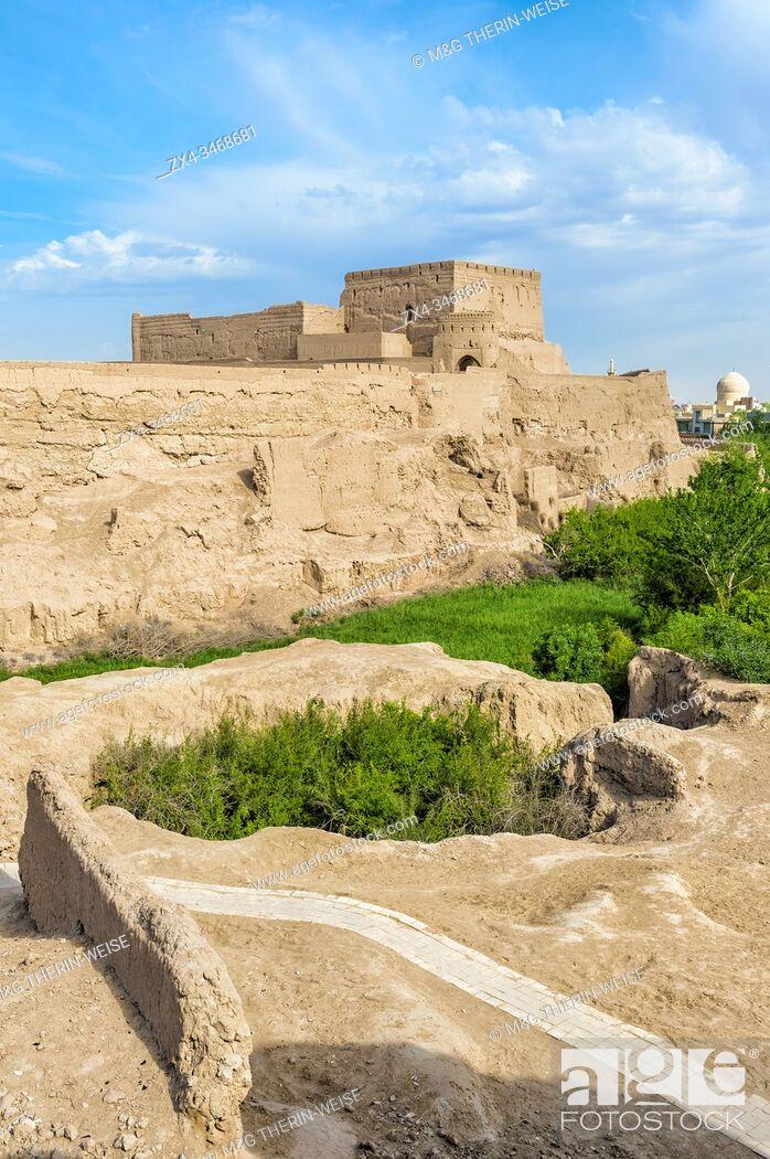 Photo de stock: Narin Qal'eh, Meybod mud-brick fortress, Yazd Province, Iran, Asia.