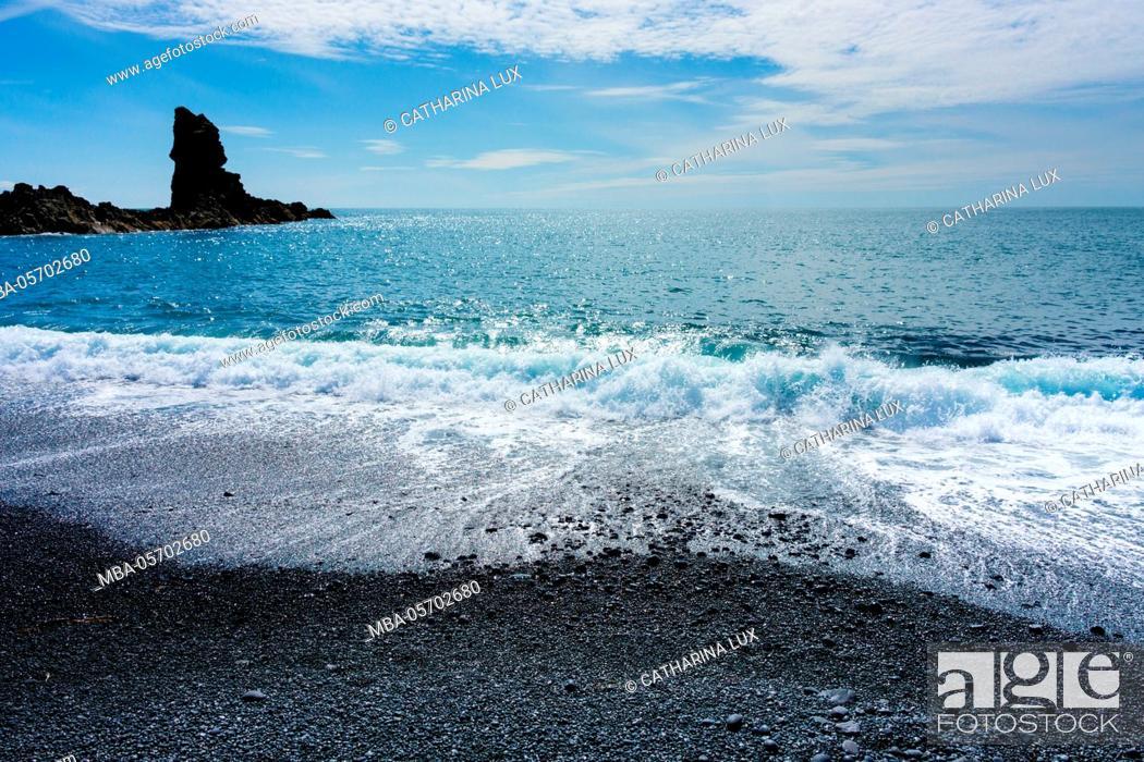 Stock Photo: Iceland, Dritvik, beach.