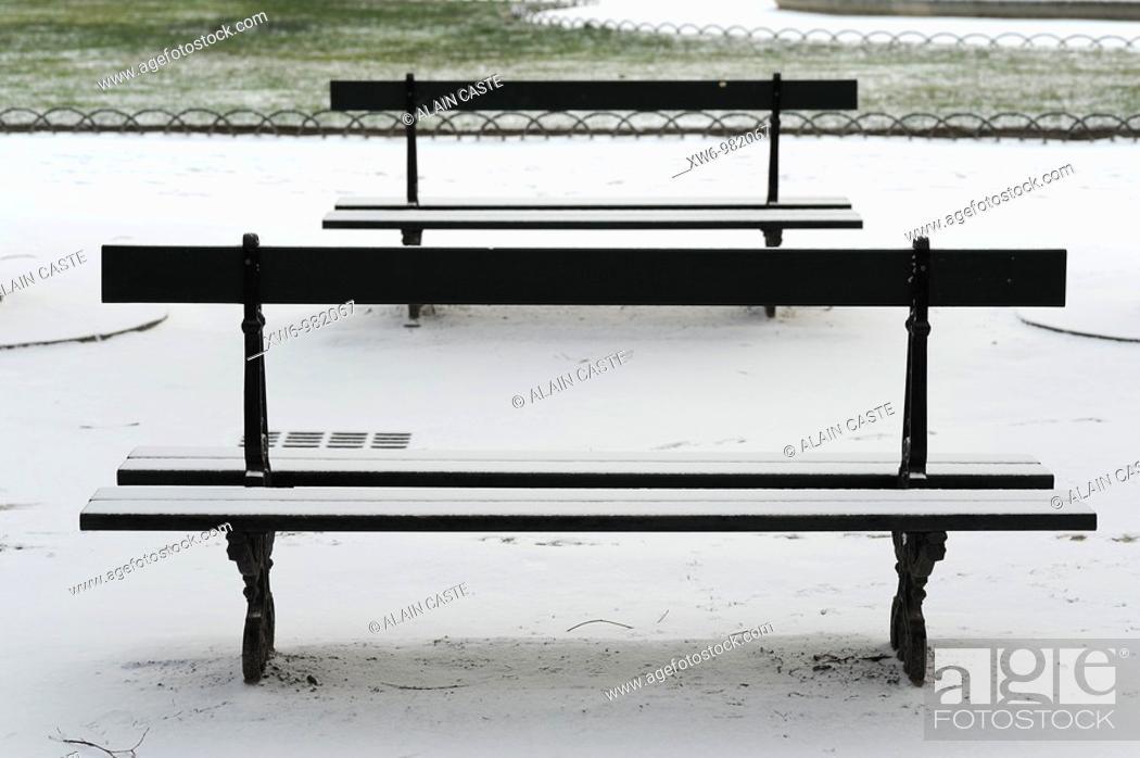 Stock Photo: Benches.