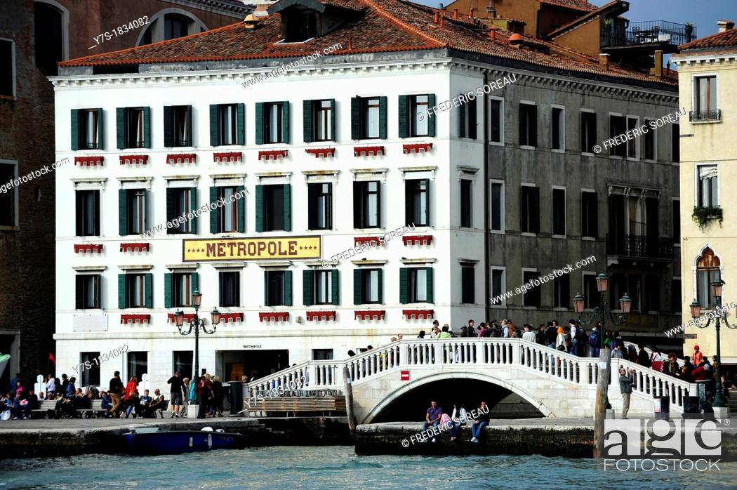 Stock Photo: Metropole Hotel in Venice,Italy,Europe.