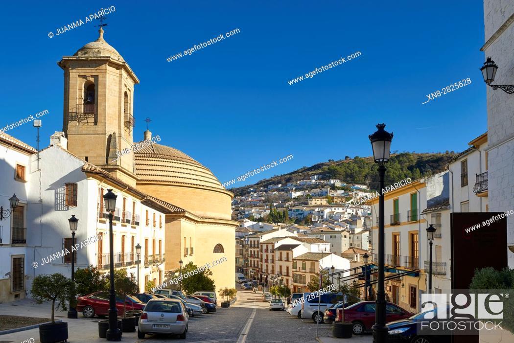 Stock Photo: Iglesia de la Encarnación, Montefrio, Granada, Andalusia, Spain, Europe.