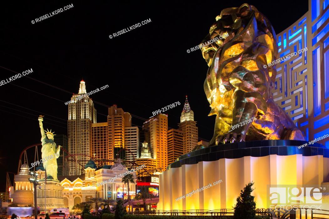 Lion Mgm Grand New York New York Hotel Casinos The Strip Las Vegas