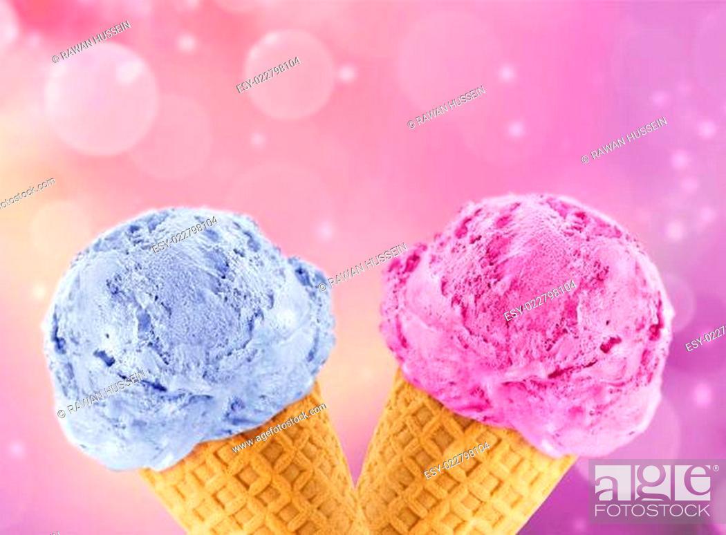 Stock Photo: Ice Cream cone.