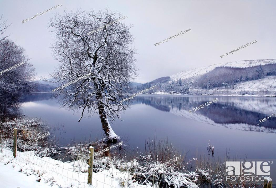 Stock Photo: ponsticill Reservoir in the Brecon Beacons, Powys,uk.