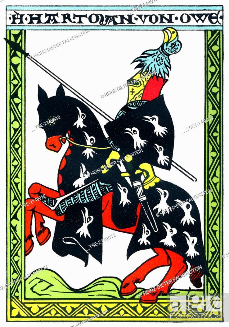 Hartmann von Aue, 13th century, a Middle High German knight