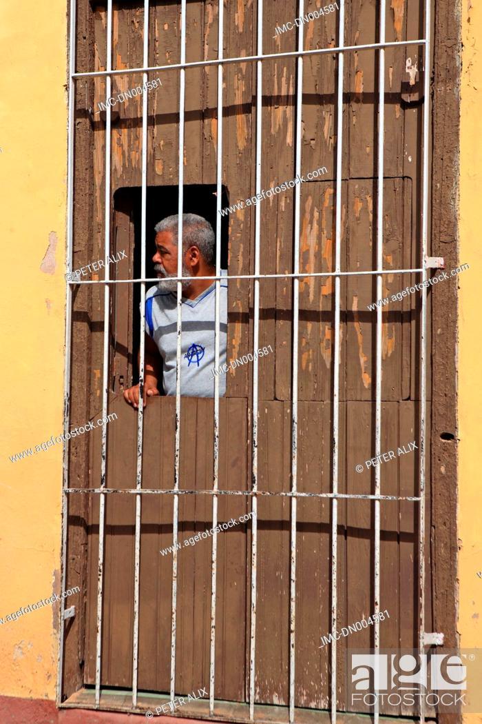 Stock Photo: Cuba, Trinidad, old man.