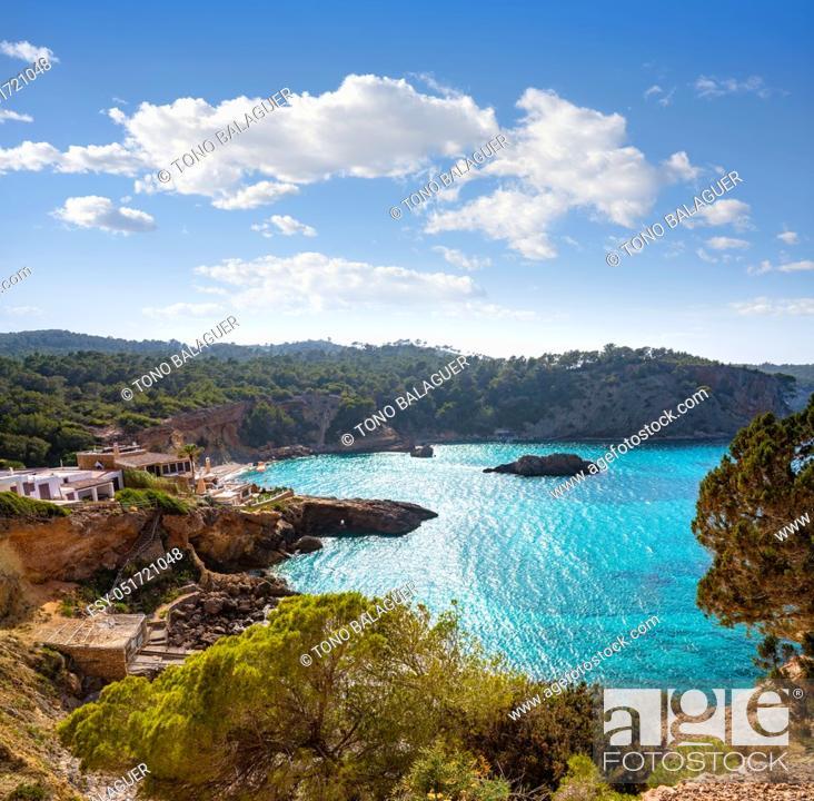 Photo de stock: Ibiza Cala Xarraca in Sant Joan of Balearic Islands.