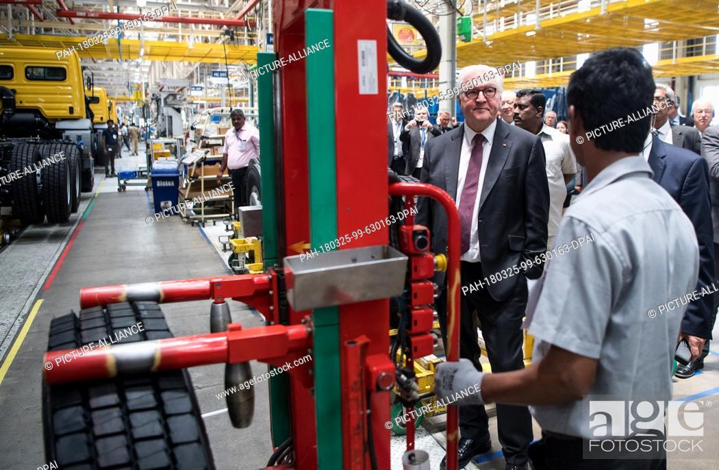 25 March 2018, India, Chennai: German President Frank-Walter