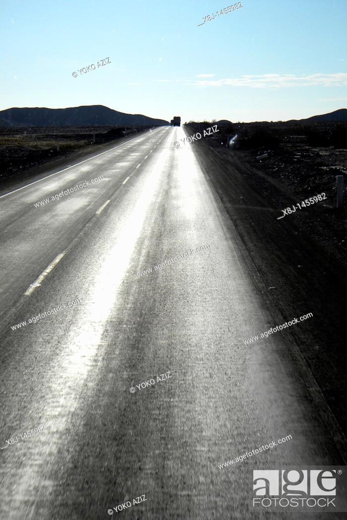 Stock Photo: Panamericana highway, Perù.