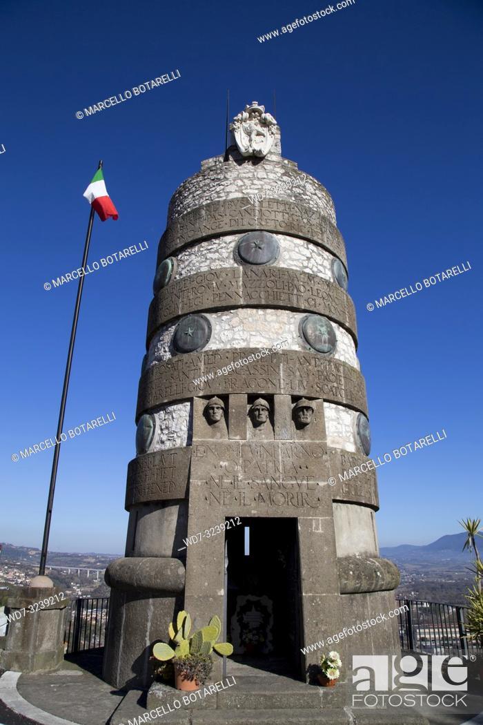 Stock Photo: monument to the fallen in narni, near terni, umbria, italy.